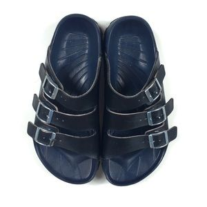 Birki's Blue 3 Strap Water Friendly Sandal